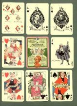 Collectible playing cards. Pickwick by artist Kyd